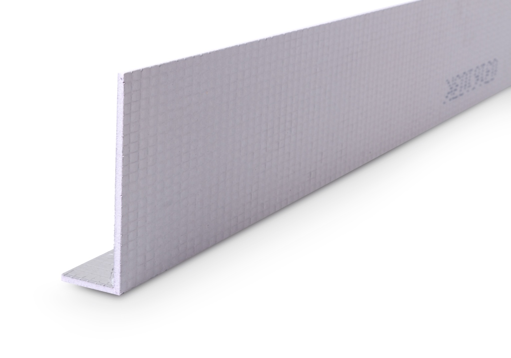 Gefidehn Estrichrandschalung aus extrudiertem Polystyrol-Hartschaum zur Herstellung von sauberen Rändern.
